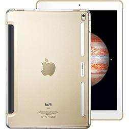iPad Pro 9.7 Case, ESR Clear Hard Case  with Soft TPU Bumper