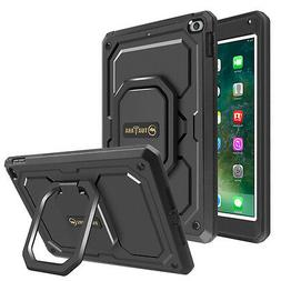 For iPad 9.7 Inch 2018 / 2017 Case Rotating Grip Stand Shock