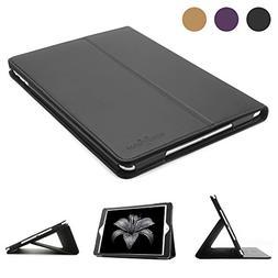 New iPad 9.7 Leather Case, BoriYuan Vintage Genuine Leather