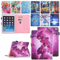 For iPad 9.7 Mini Air Pattern Magnetic Leather Stand Card Sl