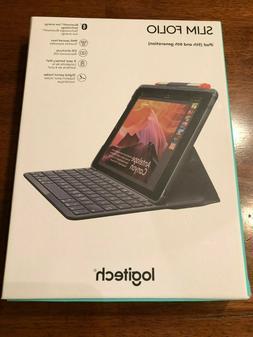 "Logitech iPad 9.7"" Slim Folio Bluetooth Keyboard Case iPad 5"