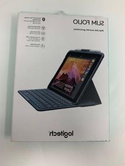 """Logitech iPad 9.7"""" Slim Folio Bluetooth Keyboard Case for iP"""