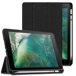 Infiland iPad 9.7 2018 Case with Apple Pencil Holder, Slim S