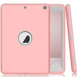 New iPad 9.7 2017 Case, AOKER Three Layer  Heavy Duty Shockp