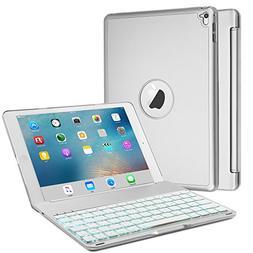 Keyboard Case for iPad Air 2/iPad Pro 9.7, Boriyuan Aluminum