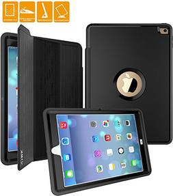SEYMAC iPad Air 2 Case, Three Layer Drop Protection Rugged P