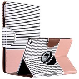 iPad Air 2 Case, ULAK 360 Degrees Rotating Stand Case Synthe