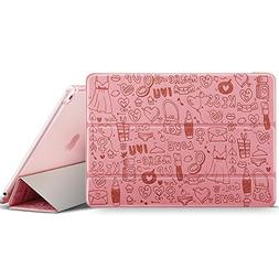 iPad Air 2 Case with Cute Cartoon Design, ESR Doodles Art Sm