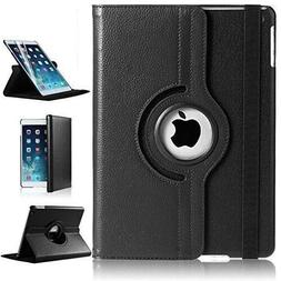 For iPad Air 9.7 inch 2017360 Degree Rotating Black Leather