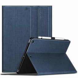 Infiland iPad Air Air 2 9.7 Stand Case Navy Denim look w pen