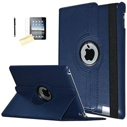 iPad Air Case , JYtrend  Rotating Stand Smart Case Cover Mag