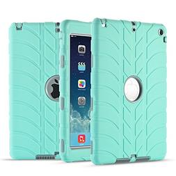 iPad Air Case,iPad 5 Case, UZER Tire Pattern Shockproof Anti