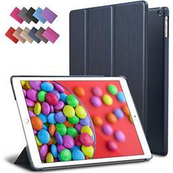 iPad Air Case, ROARTZ Metallic Navy Blue Slim Fit Smart Rubb