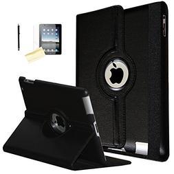 iPad 2 Case, iPad 3 Case, iPad 4 Case, JYtrend  Rotating Sta