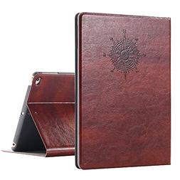 iPad Air Vintage Brown BOOK Type Leather Case Flip Cover, Mi