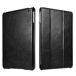 New iPad Case, Icarercase Vintage Series Genuine Leather Fol