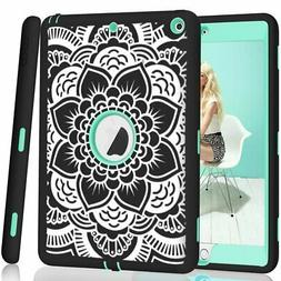 iPad case 9.7 2017/2018,PIXIU Heavy Duty Shockproof Full-Bod