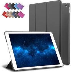 New iPad 9.7-inch 2018 2017 Case, ROARTZ Gray Slim-Fit Smart