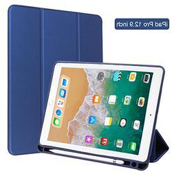 Ipad Pro Case, iPad Pro 12.9 Case with Pencil Holder, Apple