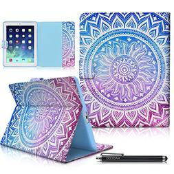iPad Case, iPad 2/3/4 Case, HAOCOO Folio Stand Smart Full-bo
