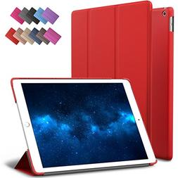 New iPad 9.7-inch 2018 2017 Case, ROARTZ Red Slim-Fit Smart