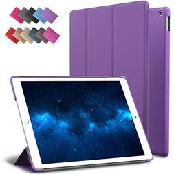New iPad 9.7-inch 2018 2017 Case, ROARTZ Purple Slim-Fit Sma