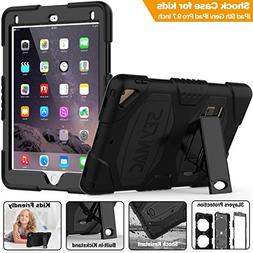 iPad 5th/6th Generation Case, SEYMAC Three Layer Heavy Duty