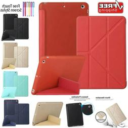 For iPad Mini 4 Air 2 Pro Case Luxury Leather Fold Stand Sma