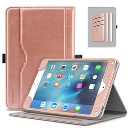 MoKo iPad Mini 4 Case - Slim Folding Stand Folio Cover Case