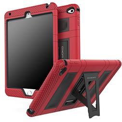 MoKo iPad Mini 4 Case - Silicone + Black Hard Polycarbonate