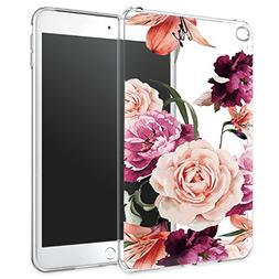 iPad Mini 4 Case, iPad Mini 4 Case with flowers, LUOLNH Slim