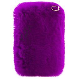 iPad Mini 4 Plush Case, QKKE Cute Luxury Winter Soft Warm Fa