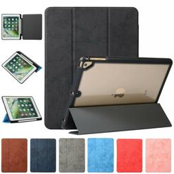 For iPad mini 5 4 Air 2 Pro Case Pencil Holder Cover Smart T