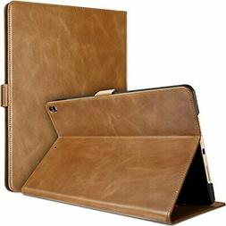 ProCase iPad Pro 10.5 Case 2017, Vintage Genuine Leather Cas