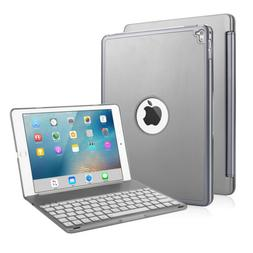 """For iPad Pro 9.7"""" Gray 7 Colors Backlit Bluetooth Keyboard F"""