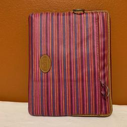 "FOSSIL IPAD TABLET CASE STRIPED SLEEVE 9 1/2"" X 7 1/2"" INTER"