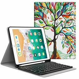 MoKo Keyboard Case for iPad 9.7 2018 with Apple Pencil Holde