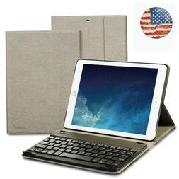 Keyboard Case w/Bluetooth Wireless Keyboard for iPad 9.7 17/