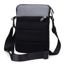 Black & Grey Messenger Slim Sleeve Bag Case  NuVur for HP Pa
