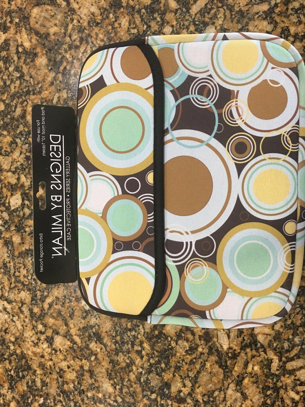 10 brown circle pattern case sleeve pouch