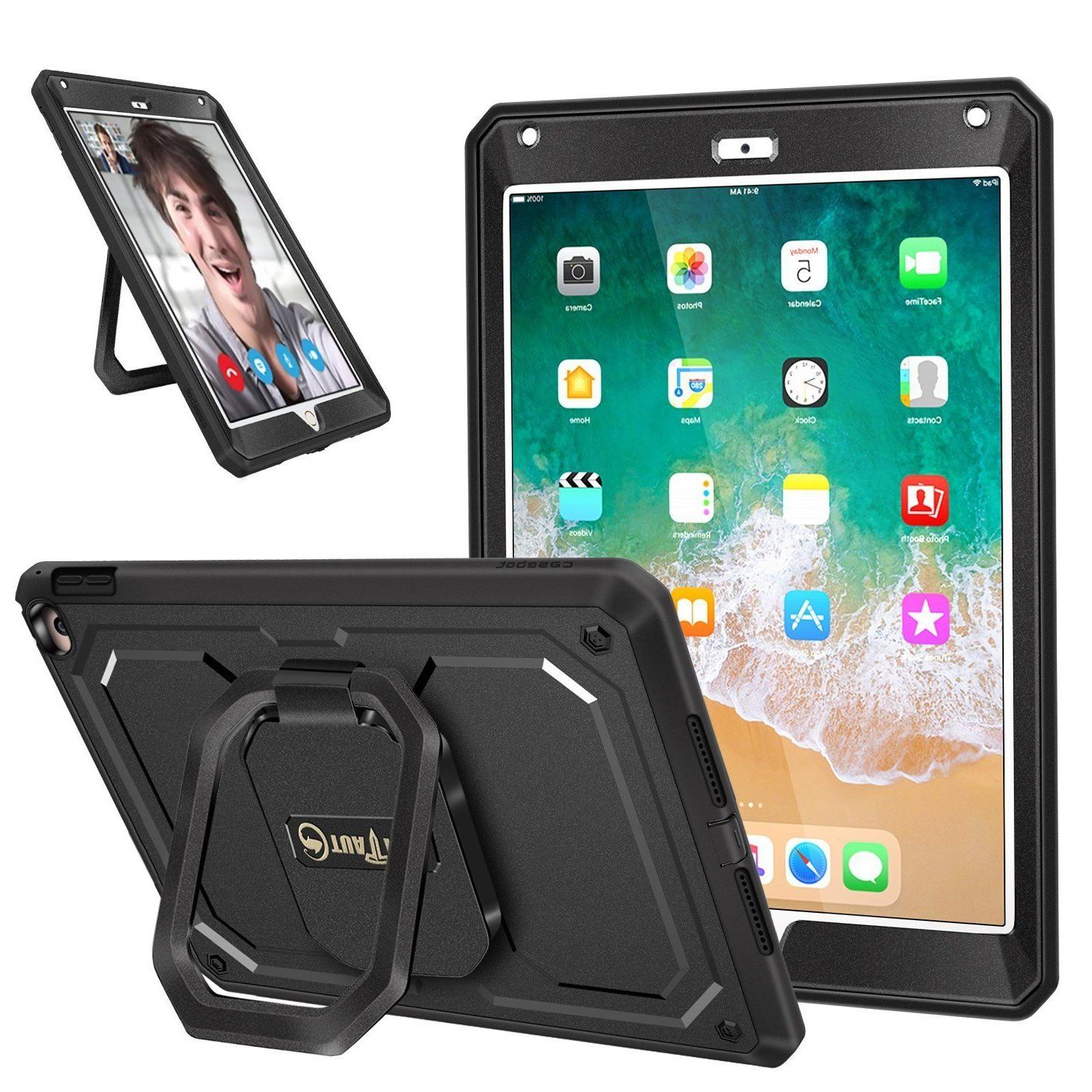 Mutiple Angles Screen Protector Hard Case Cover For iPad 9.7