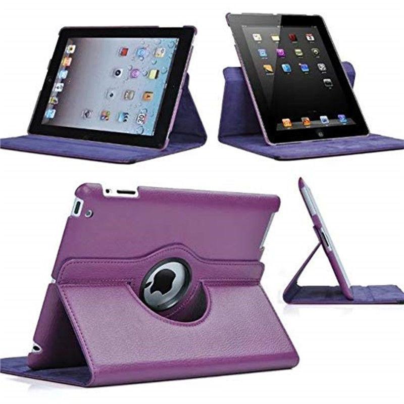 360 Folio Leather Case Cover For Apple iPad 2 3 4