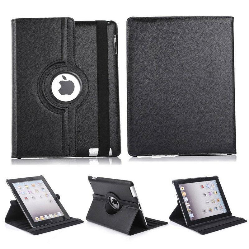 360 Rotating Leather Cover For Apple 2 4