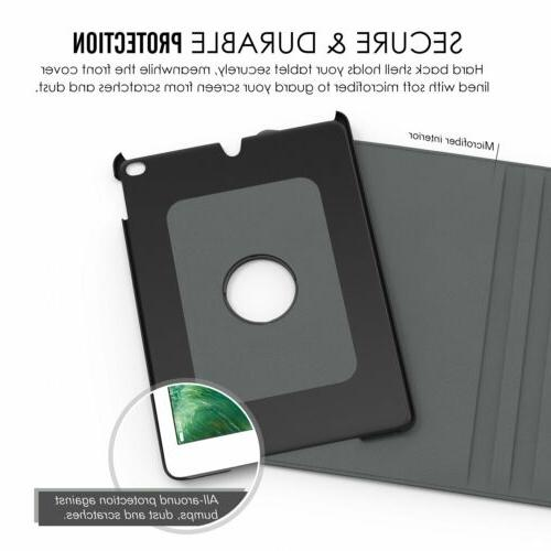 For 4 Case Cover 360 Rotating Folio Stand &