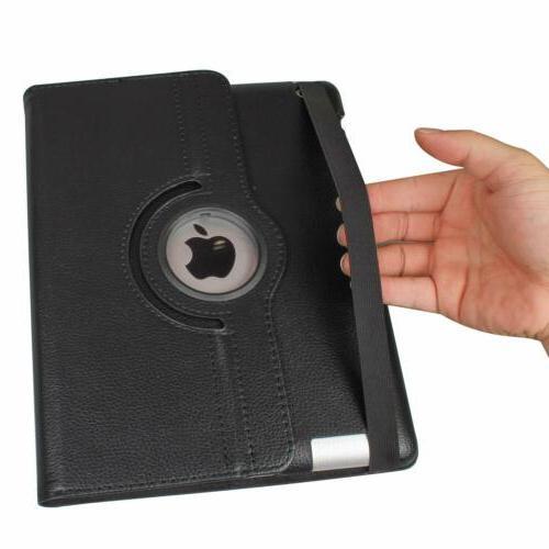 360 Leather Folio Case Cover For iPad 234 Mini 2 3 4 Air 1 2 Pro