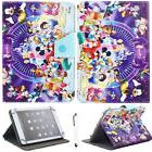"""For 7""""-10.1"""" Tablets Purple Disney family Universal Leather"""