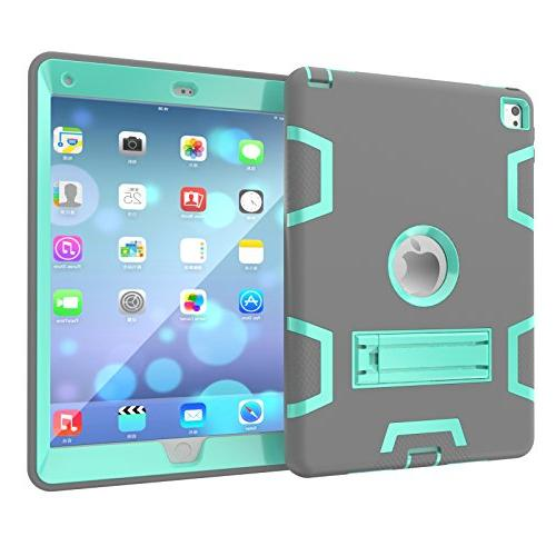 "Beimu 9.7"" Case, iPad Air 2/iPad 6 Heavy Duty Shock-Absorption / High Impact Resistant Kickstand for iPad Air"