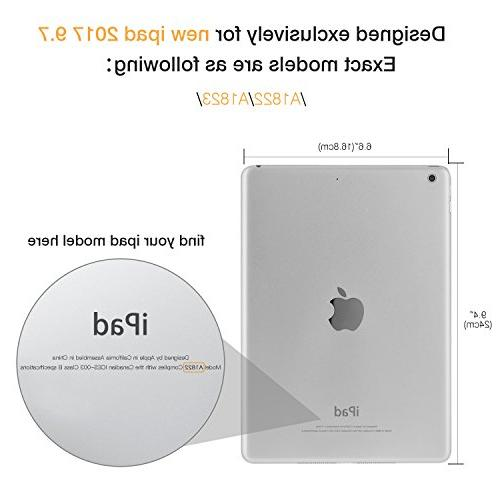 MoKo Case iPad 9.7 5th/6th Slim-Fit Multi-Angle Folio Cover Case with Auto Wake/Sleep Compatible with Apple 9.7 Inch 2018/2017,