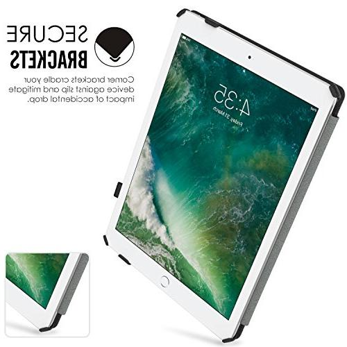 MoKo Case iPad 9.7 5th/6th Slim-Fit Multi-Angle Case Compatible with Apple 9.7 2018/2017, Black