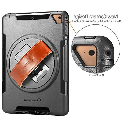 NewTrent iPad Case Heavy Duty Rugged Case Built-in Dual Layer Apple 9.7 2017/2018